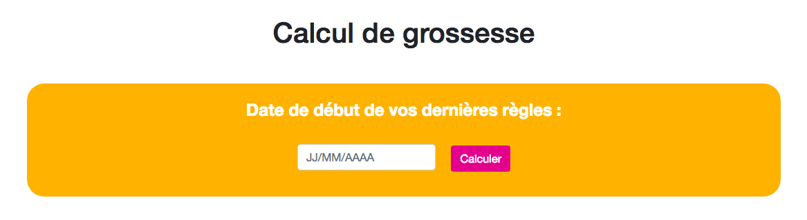 Site de calculation de grossesse
